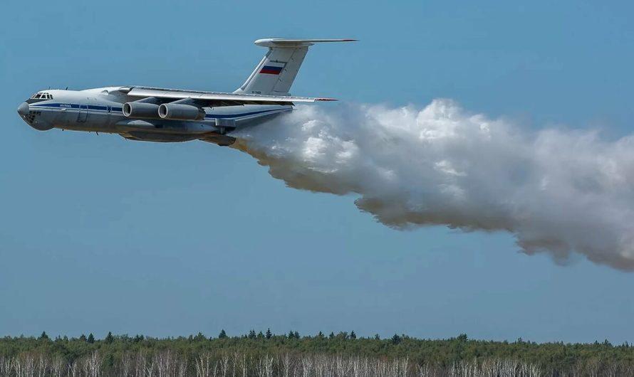 Пожар тушила авиация