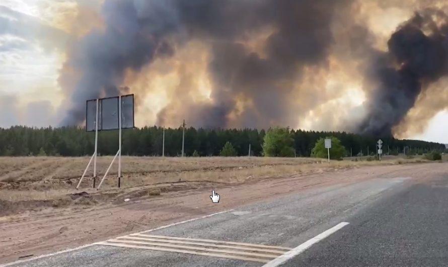 В Оренбуржье продолжается упорная борьба с природными пожарами
