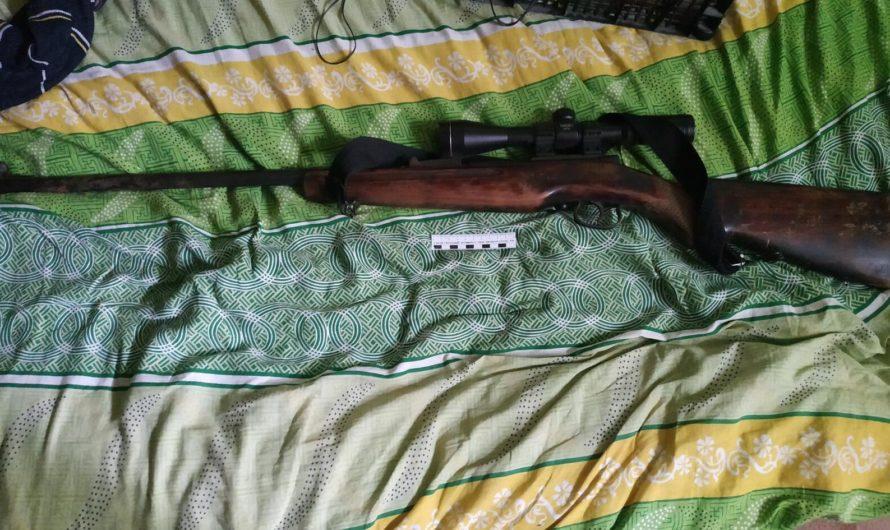 В Первомайском районе сотрудники полиции изъяли незаконно хранящуюся винтовку