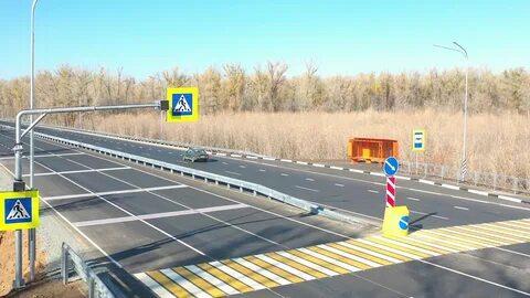 Участок трассы М-5 Урал на подъезде к Оренбургу расширили до четырёх полос